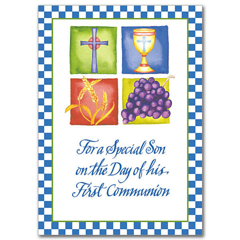 For A Special Son On The Day First Communion Card