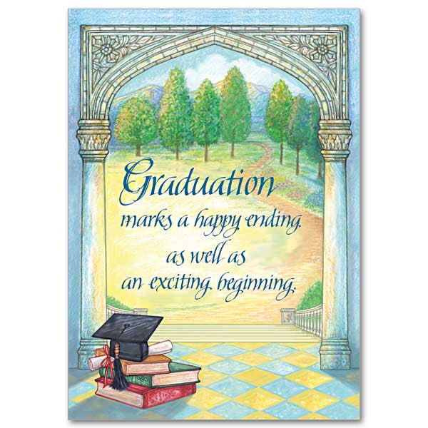 Graduation Marks A Happy Ending Graduation Card