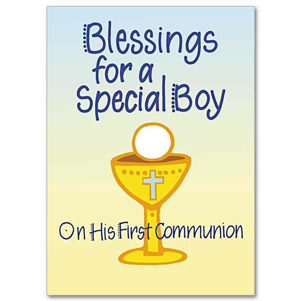 Blessings For A Special Boy First Communion Card