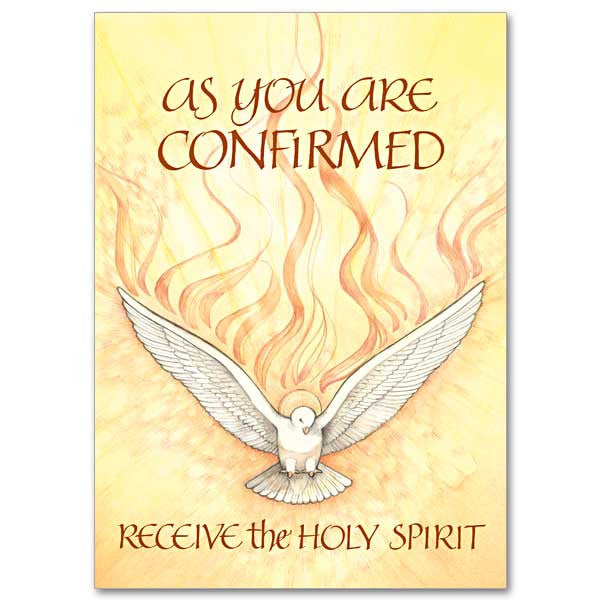 Receive The Holy Spirit Confirmation Card