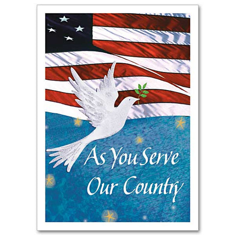 As You Serve Our Country Service Person Christmas Card