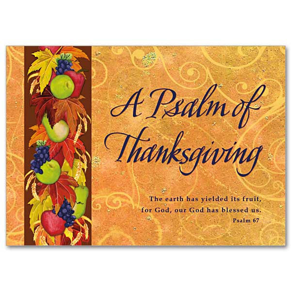 A Psalm Of Thanksgiving Thanksgiving Card
