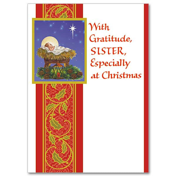 With Gratitude, Sister Christmas Card