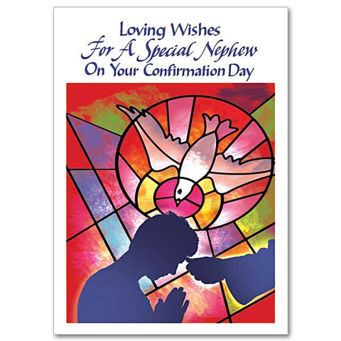 Loving Wishes For A Special Nephew Confirmation Card