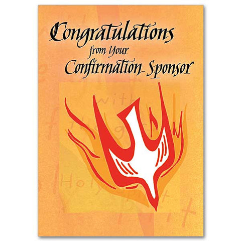 Congratulations From Sponsor Confirmation Card