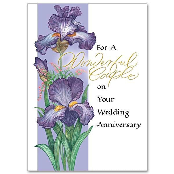 For A Wonderful Couple Wedding Anniversary Card