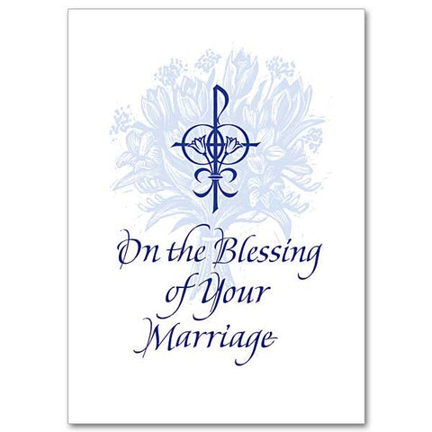 On The Blessing Of Your Marriage Wedding Congratulations Card