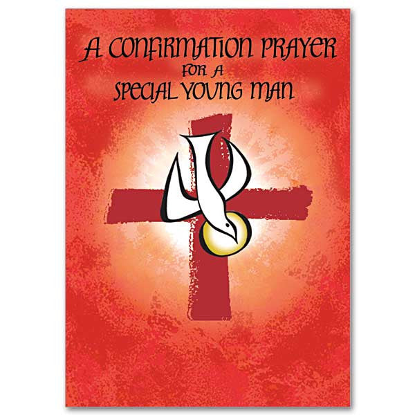 A Confirmation Prayer/Young Man Confirmation Card