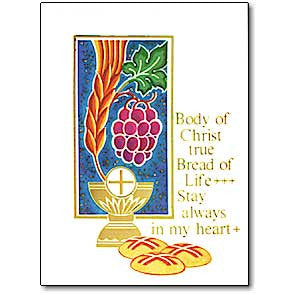 Body Of Christ True Bread Of Life First Communion Card