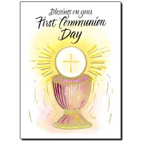 Blessings On Your First Communion Card