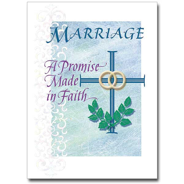 Marriage...A Promise Made... Wedding Anniversary Card