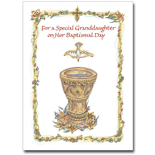 For A Special Granddaughter... Baptism Card