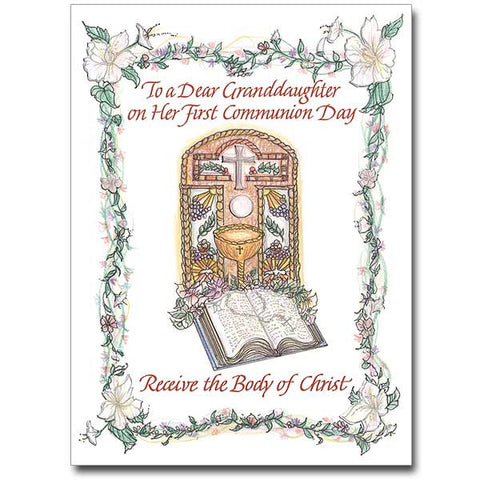 To A Dear Granddaughter... First Communion Card