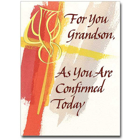 For You Grandson, As You Are... Confirmation Card