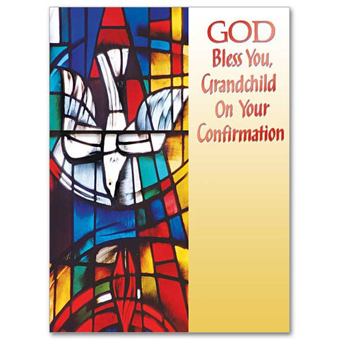 God Bless You Grandchild Confirmation Card