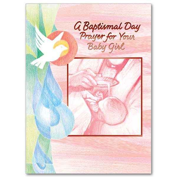 A Baptismal Day Prayer/Baby Girl Baptism Card