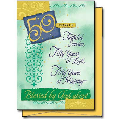 50 Yrs Of Faithful Service... Priest 50Th Anniversary Card