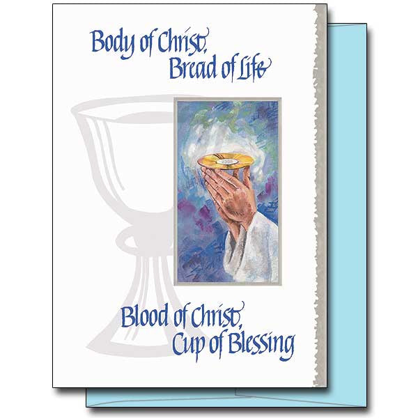 Body Of Christ, Bread Of Life First Communion Card