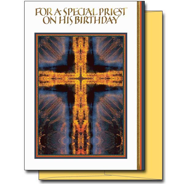 For A Special Priest Priest Birthday Card