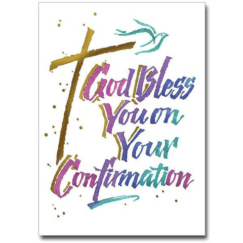 God Bless You... Confirmation Card