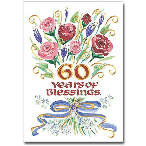 60 Years Of Blessings General Anniversary Card