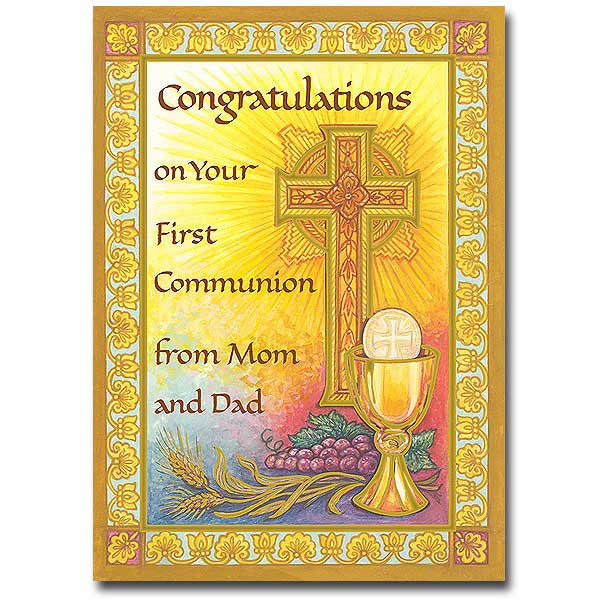 Congratulations... First Communion From Mom/Dad Card