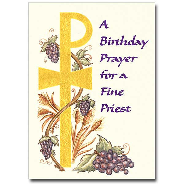 A Birthday Prayer For A Fine... Priest Birthday Card