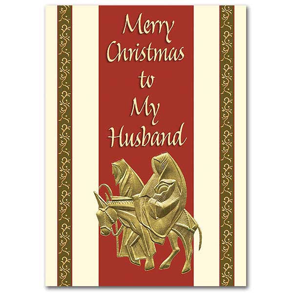 Merry Christmas To My Husband Christmas Card