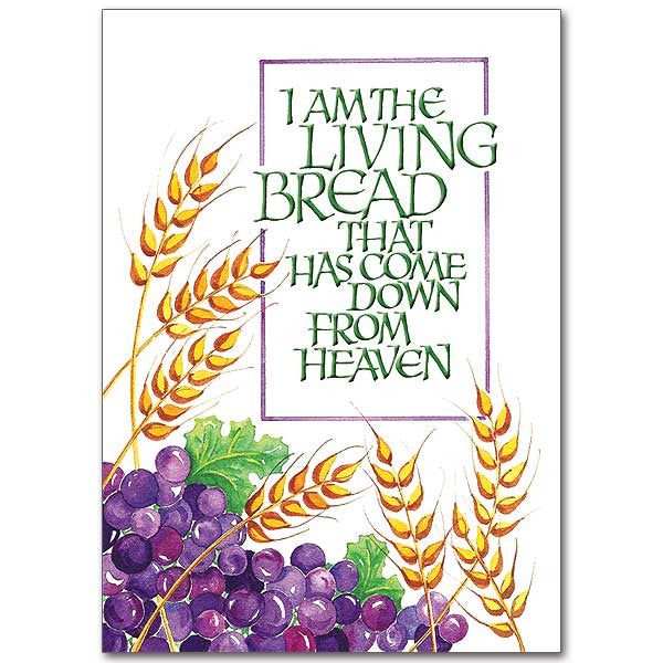 I Am The Living Bread First Communion Card