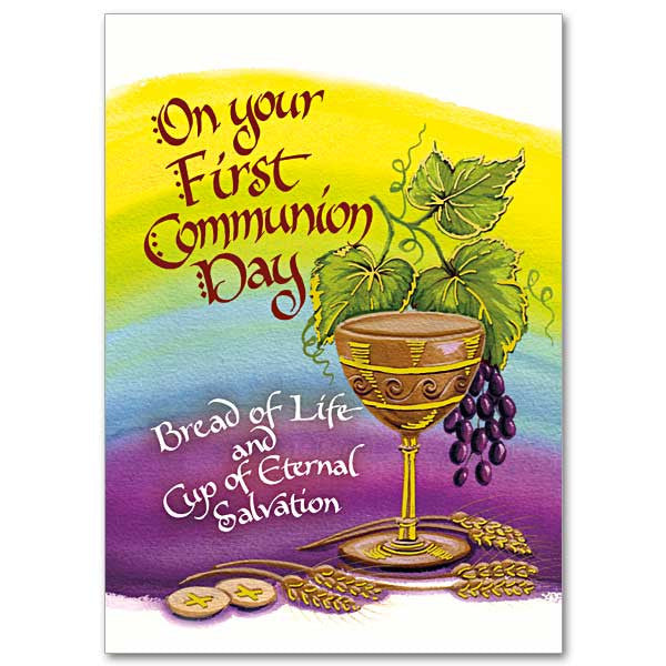 On Your First Communion Day First Communion Card