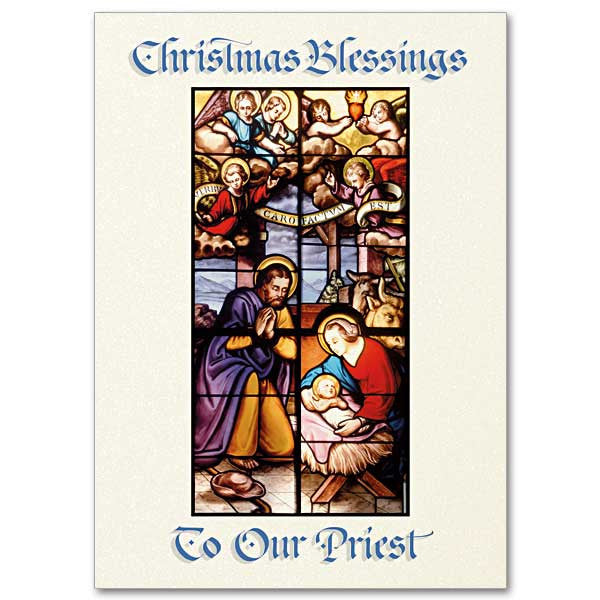 Christmas Blessings To Our Priest Christmas Card