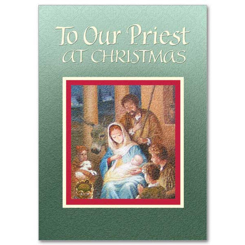 To Our Priest At Christmas Christmas Card