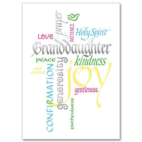 Granddaughter: Fruits of Spirit Confirmation Card