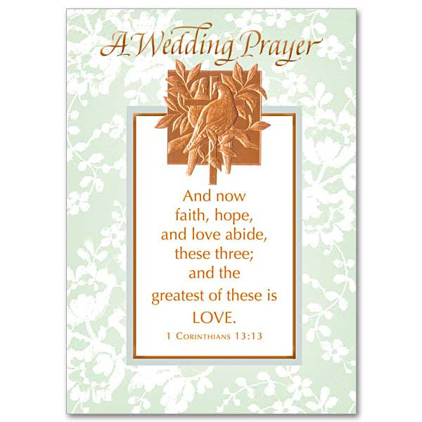 A Wedding Prayer Wedding Congratulations Card
