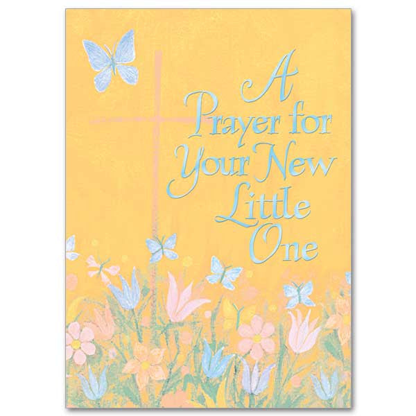 A Prayer For Your New Little One Baby Congratulations Card