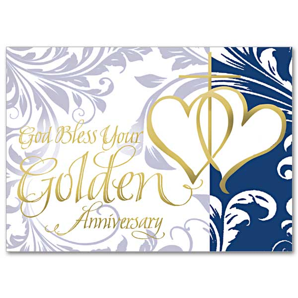God Bless Your Golden Anniversary: 50th Wedding Anniversary Card