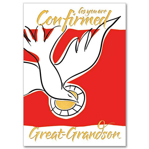 Great Grandson  Confirmation Card