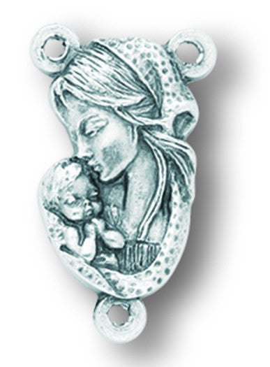 Madonna And Child Rosary Centerpiece