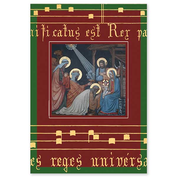 Adoration of the Magi:  Majesty of Christmas Card