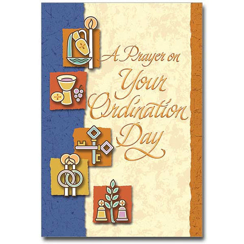 A Prayer On Your Ordination... Priest Ordination Card
