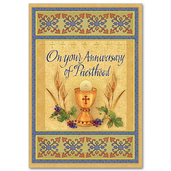 On your anniversary of priesthood ordination anniversary card m4hsunfo