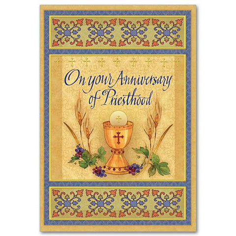 On Your Anniversary Of Priesthood Ordination Anniversary Card