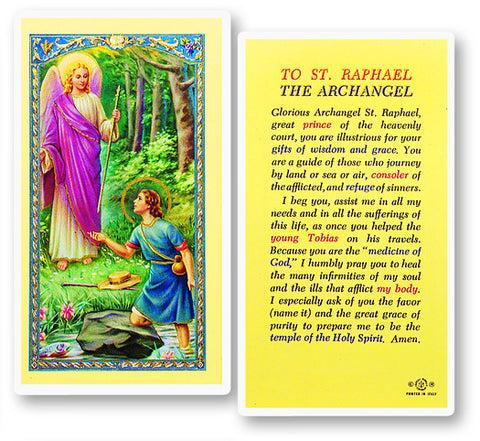 Prayer To St. Raphael Holy Card