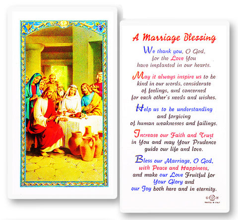 Marriage Blessing Holy Card
