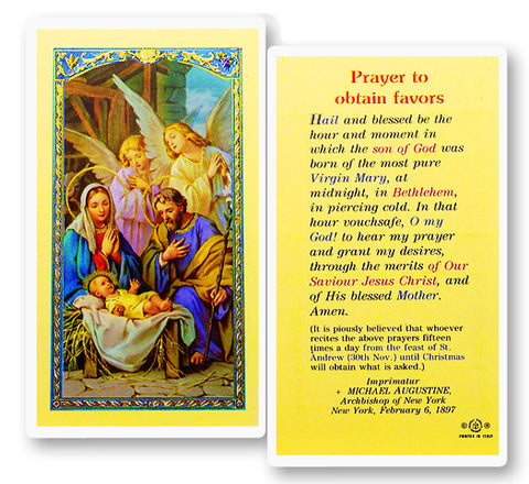 Prayer To Obtain Favors - Christmas