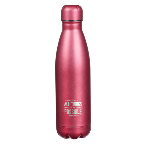 All Things Are Possible Stainless Steel Water Bottle
