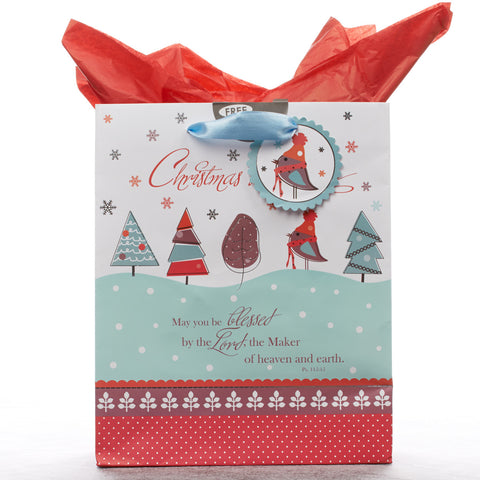 Medium Gift Bag: Christmas Blessings - Ps 115:15