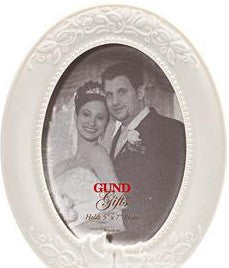5X 7 oval porcelain Wedding Frame