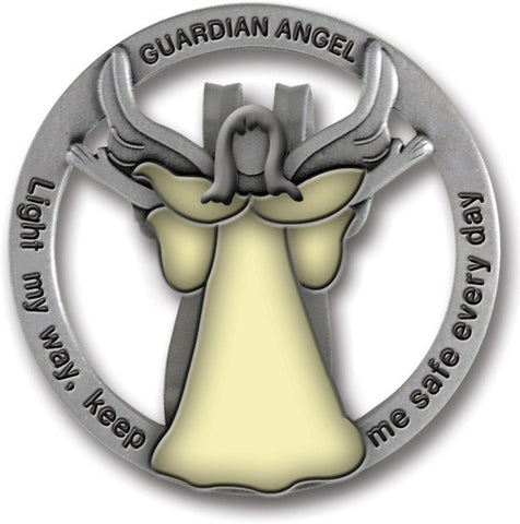 Light My Way Guardian Angel Glow In Dark Visor Clip