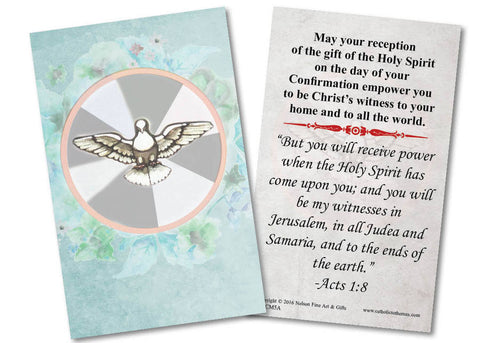 Confirmation Holy Card